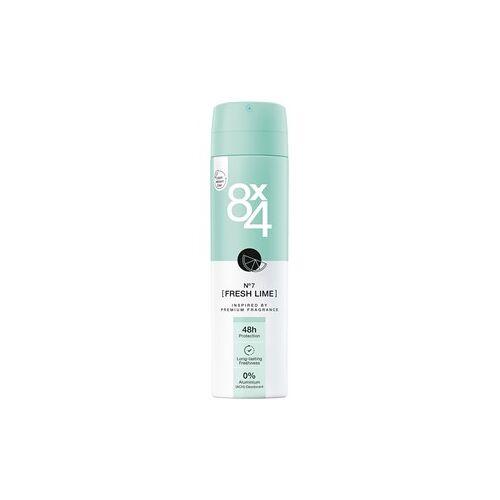 8x4 Deodorants Damen Deodorant Spray Nr. 7 Fresh Lime 150 ml