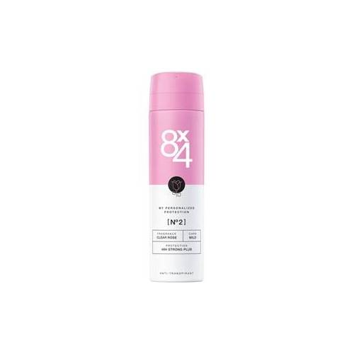 8x4 Deodorants Damen Deodorant Spray Nr. 2 Clear Rose 150 ml
