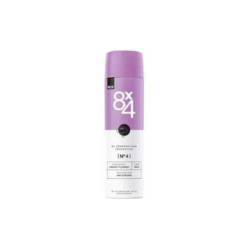 8x4 Deodorants Damen Deodorant Spray Nr. 4 Vibrant Flower 150 ml