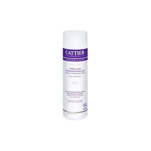 Cattier Reinigung Gesichtsreinigung Rose & Aloe Vera Mizellen Reinigungsfluid Perle d´Eau 300 ml