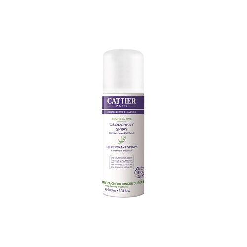 Cattier Pflege Körperpflege Kardamom & Patchouli Deodorant Brume Active 100 ml