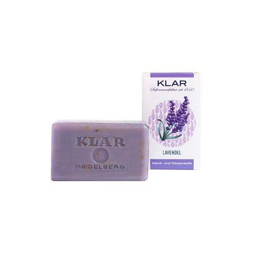 Klar Seifen Pflege Seifen Hand- und Körperseife Lavendel 100 g