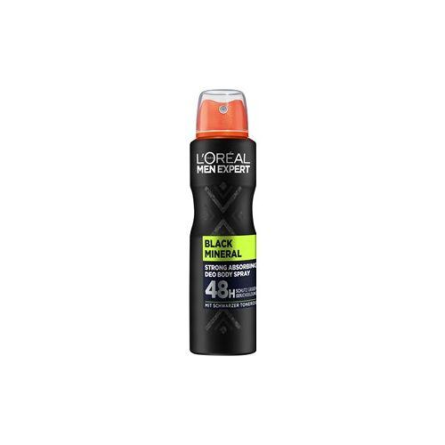 L'Oréal Paris Men Expert Pflege Deodorants Black Mineral 48H 150 ml