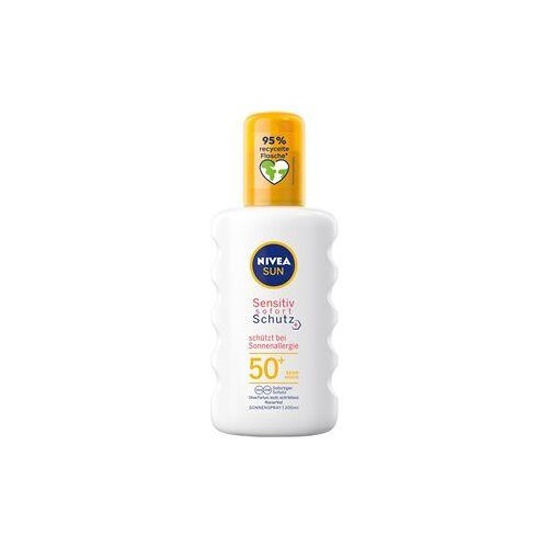 Nivea Sonnenpflege Sonnenschutz Anti-Sonnenallergie Sensitive Sofort-Schutz Sonnenspray LSF 50+ 200 ml