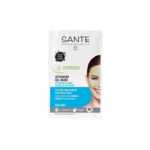 Sante Naturkosmetik Gesichtspflege Masken Afterwork Gel-Maske Bio-Avocadoöl & Aloe Vera 8 ml