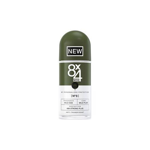 8x4 Deodorants Herren Nr. 08 Wild Oak Roll On 48H Strong Plus 50 ml