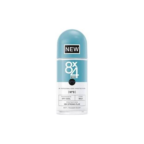 8x4 Deodorants Herren Nr. 09 Dry Cool Roll On 48H Strong Plus 50 ml