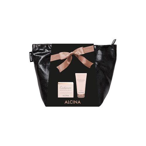 Alcina Kosmetik Cashmere Cashmere Haut Geschenkset Cashmere Handbalsam 50 ml + Cashmere Gesichtscreme 50 ml + Tasche 1 Stk.