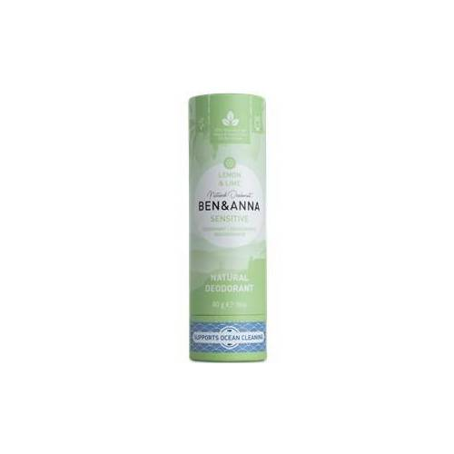 BEN&ANNA Pflege Deodorant PaperStick Natural Deodorant Stick Sensitive Lemon & Lime 60 g