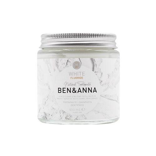 BEN&ANNA Zahnpflege Zahnpasta im Glas Zahnpasta White mit Fluoride 100 ml