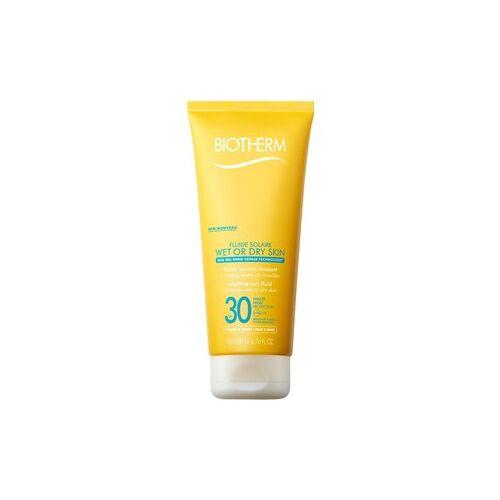 Biotherm Sonnenpflege Sonnenschutz Fluide Solaire Wet Skin SPF 15 200 ml