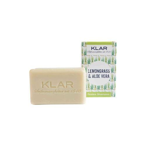 Klar Seifen Pflege Shampoo & Conditioner Festes Shampoo Lemongrass + Aloe Vera 100 g