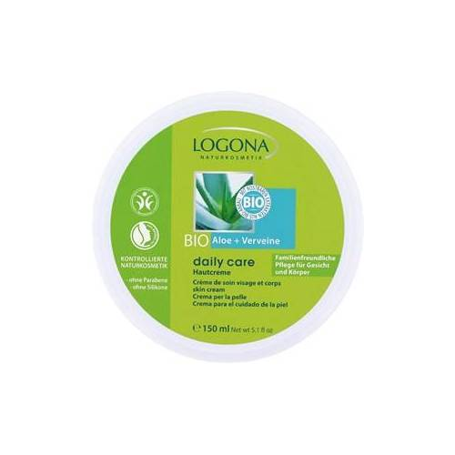 Logona Körperpflege Lotionen Hautcreme Bio-Aloe + Verveine 150 ml