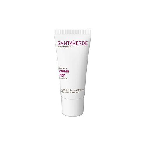Santaverde Pflege Gesichtspflege Aloe Vera Cream Rich ohne Duft 30 ml