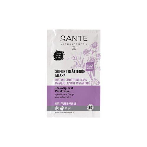 Sante Naturkosmetik Gesichtspflege Masken Teekomplex & Parakresse Sofort glättende Maske Teekomplex & Parakresse 8 ml