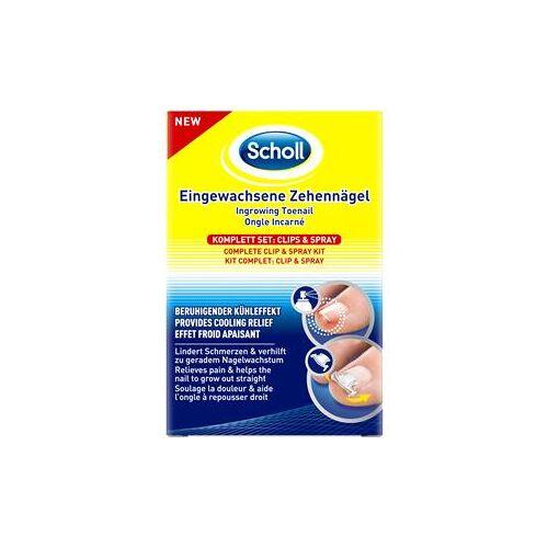 Scholl Fußpflege Nagelpflege Eingewachsene Zehennägel Komplett-Set Clips & Spray 1 Stk.