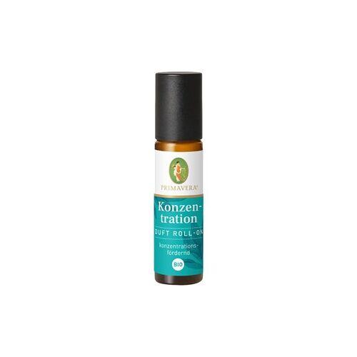 Primavera Aroma Therapie Aroma Roll-On Konzentration Duft Roll-On Bio 10 ml