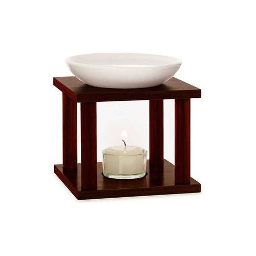 Primavera Home Duftlampen Duftlampe Olymp Keramik & Holz - B:12 x T:12 x H:14,3 cm 1 Stk.
