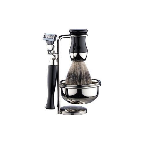 ERBE Shaving Shop Rasiersets Rasierset Gillette Mach3, 4 tlg. Rasierer + Pinsel + Ständer + Rasierseifenschale 1 Stk.