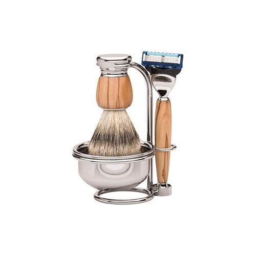 ERBE Shaving Shop Rasiersets Rasierset Milano Fusion Gillette Fusion Olivenholz + Rasierpinsel Olivenholz + Ständer + Rasierseifenschale 1 Stk.