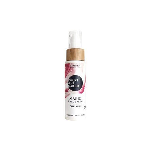 I Want You Naked Körperpflege Handcreme Aloe Vera Gel & Rosengeranium Magic Hand Cream Sweet Roses 50 ml