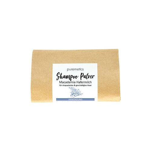 puremetics Pflege Shampoo Shampoo-Pulver Macadamia Hafermilch 50 g