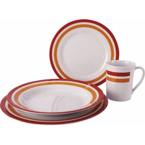 Meru Melamin Tableware 16pcs - Geschirrset