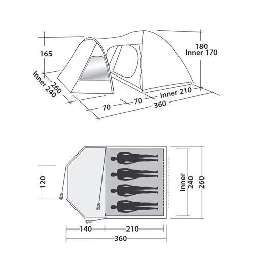 Easy Camp Blazar 400 - Zelt