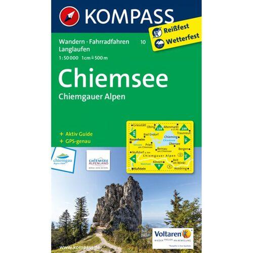 Kompass Karte Nr: 10 Chiemsee, Chiemgauer Alpen 1:50.000