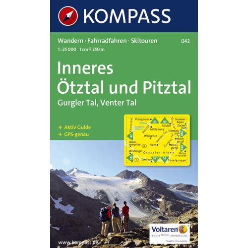 Kompass Karte N.042: Inneres Ötztal und Pitztal - 1:25.000