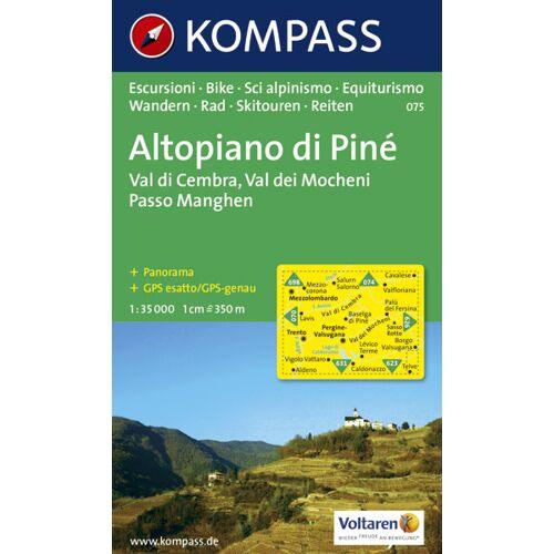 Kompass Karte Nr. 075 Altopiano di Pinè 1:35.000