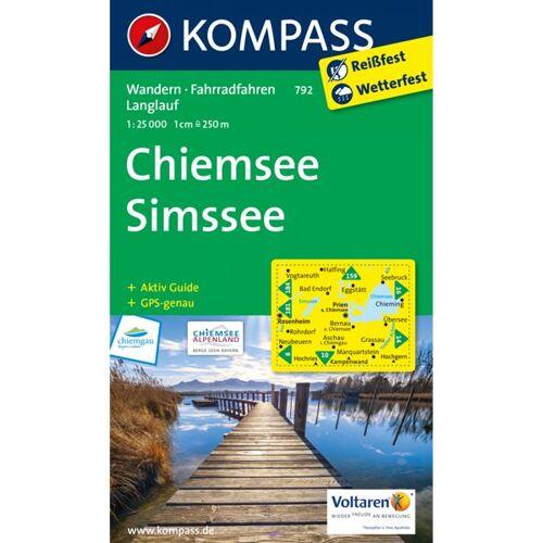 Kompass Karte Nr.792 Chiemsee, Simssee 1:25.000