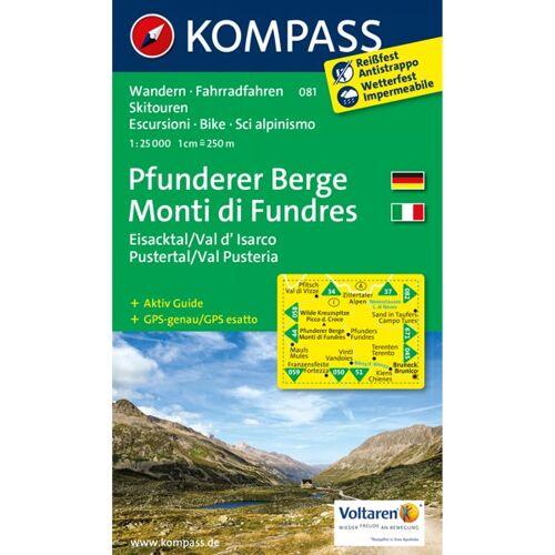Kompass Karte N.081: Pfunderer Berge 1:25.000