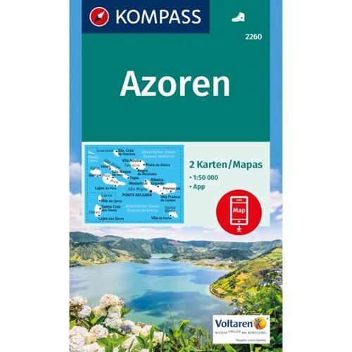 Kompass Karte Nr. 2260 Azoren 1:50.000 2 Karten