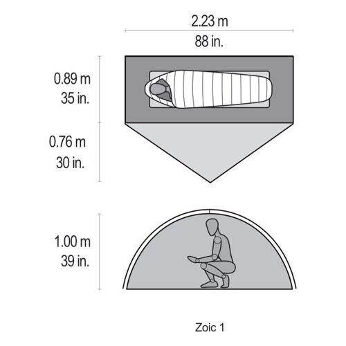 MSR Zoic 1 - Trekking-Zelt