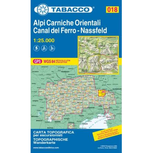 Tabacco Karte N.018 Alpi Carniche Orientali - Canal del Ferro - Nassfeld - 1:25.000