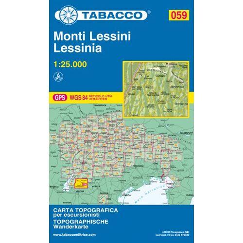 Tabacco Karte N.059 Monti Lessini - Lessinia - 1:25.000