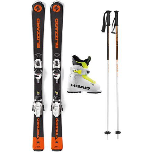 Blizzard Set Firebird Jr 120/130 cm: Ski + Bindungen + Skistöcke + Skischuhe
