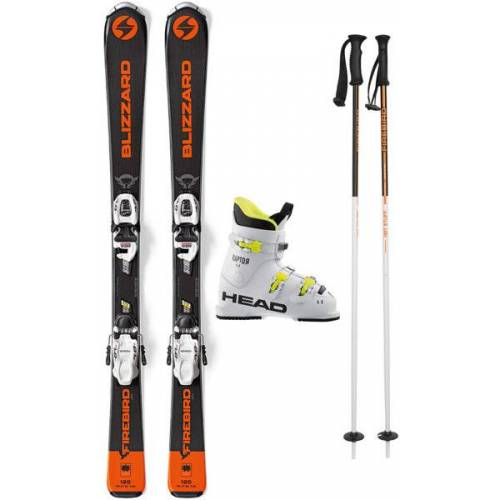 Blizzard Set Firebird Jr 120/130 cm: Ski + Bindung + Skistöcke + Skischuhe