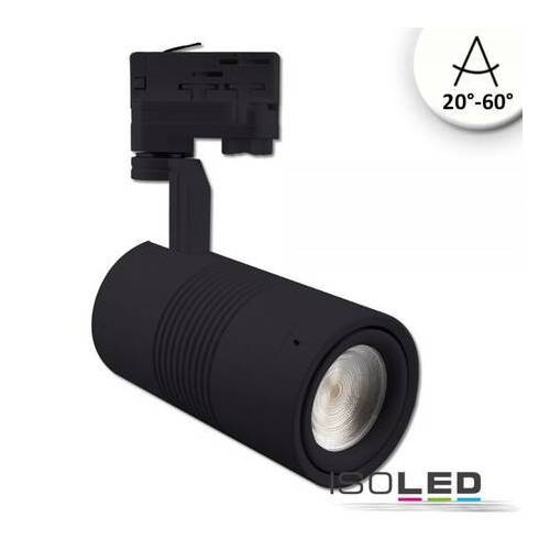 Fiai IsoLED 3-PH Schienen-Strahler schwarz matt fruit light 35W fokussierbar 20° bis 60°...