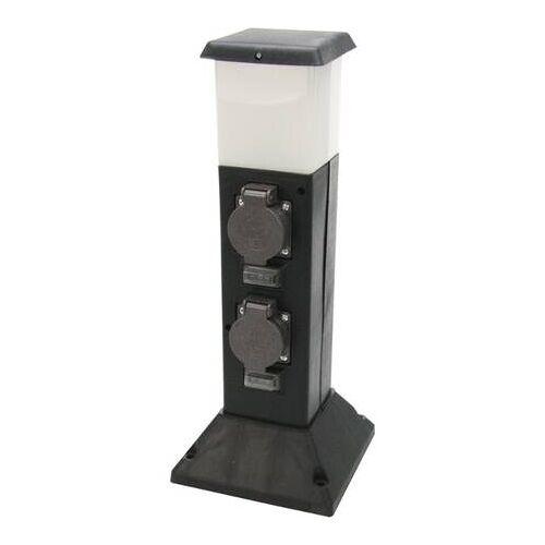 HEITRONIC Energieverteiler 2-fach mit LED Beleuchtung und Bewegungsmelder EEK:A++