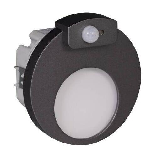 Zamel ledix LED Einbaustrahler MUNA WW 1,2W 230V AC graphit mit Bewegungsmelder