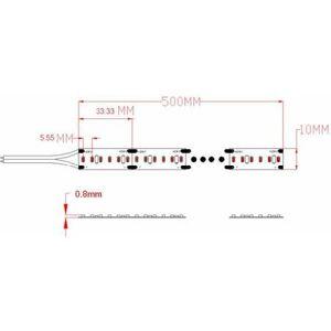 SYNERGY21 LED Streifen 5m warmweiß 70W 24V DC 900 SMD2216 1020lm/m CRI 90 EEK:A