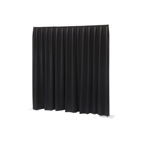 Wentex Pipes & Drapes Vorhang Molton, 3x2.5m, 300g/m², schwarz