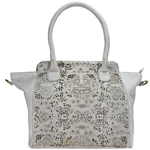 Greenland Femi & Nine Ladies Bag Handtasche Leder 44 cm grey