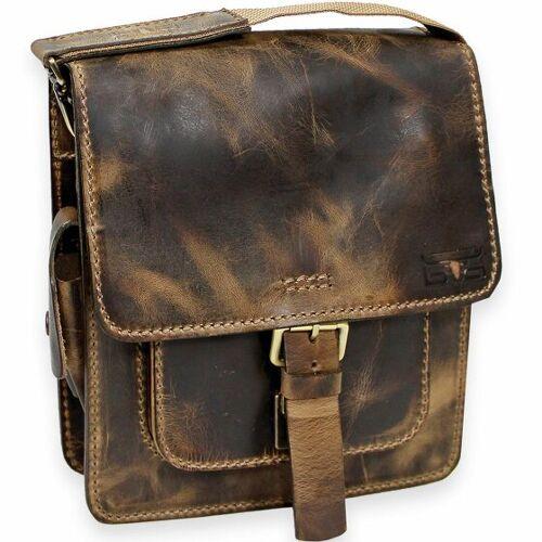 Mika Handtasche Umhängetasche Leder 26 cm vintage