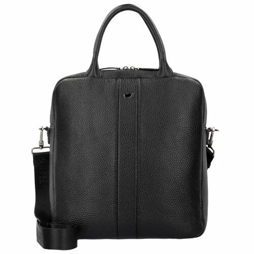 Braun Büffel Turin Tote Handtasche 32 cm Leder schwarz