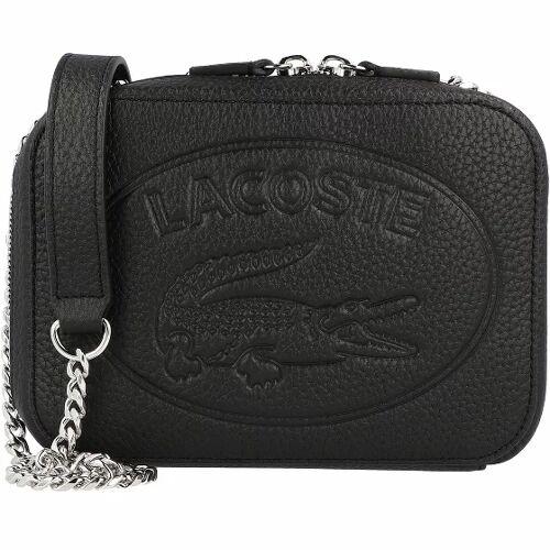 Lacoste Croco Crew Umhängetasche Leder 18 cm noir