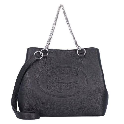 Lacoste Croco Crew Handtasche Leder 25 cm noir