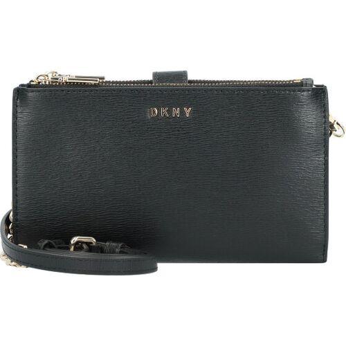 DKNY Bryant Clutch Geldbörse Leder 18,5 cm blk/gold